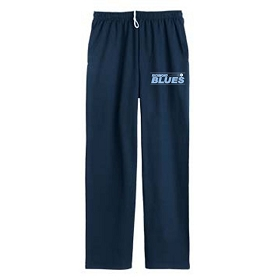 Blues JERZEES® NuBlend® Pocketed Open Bottom Sweatpants